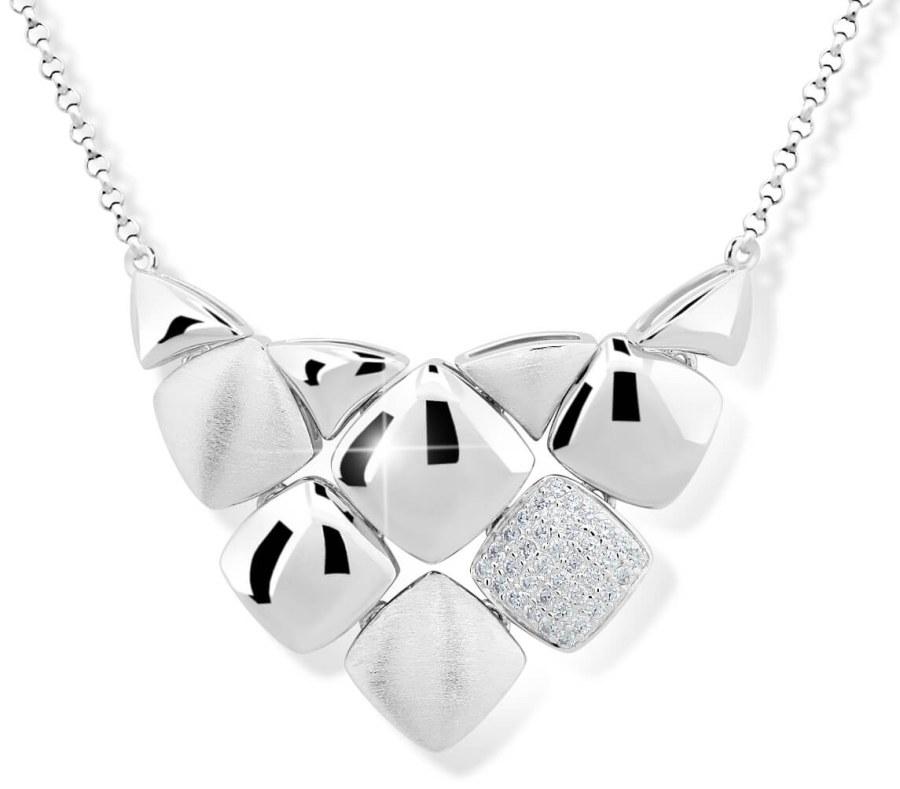 Modesi Designový náhrdelník ze stříbra M43047 - Šperky Náhrdelníky