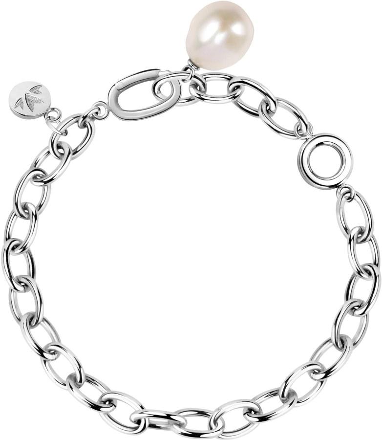 Morellato Masívní ocelový náramek s pravou perlou Oriente SARI13