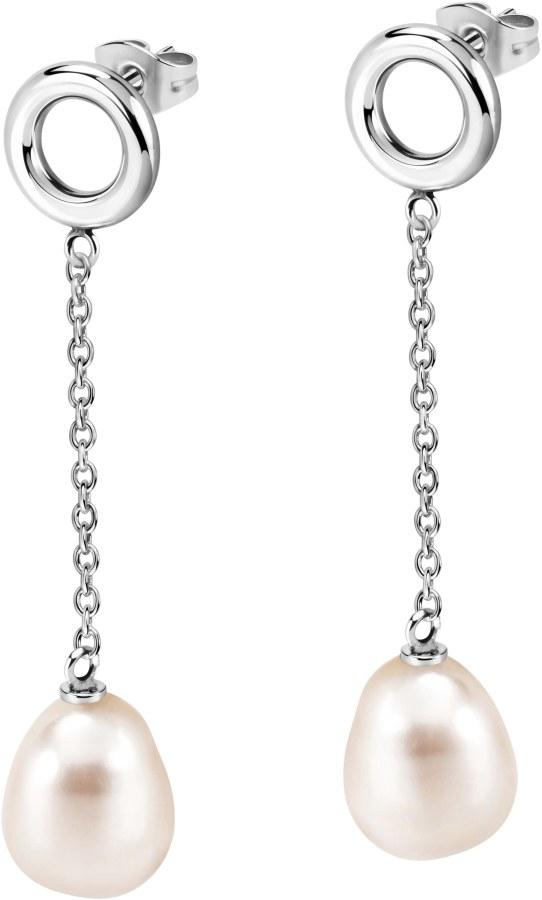 Morellato Ocelové náušnice s pravou perlou Oriente SARI12