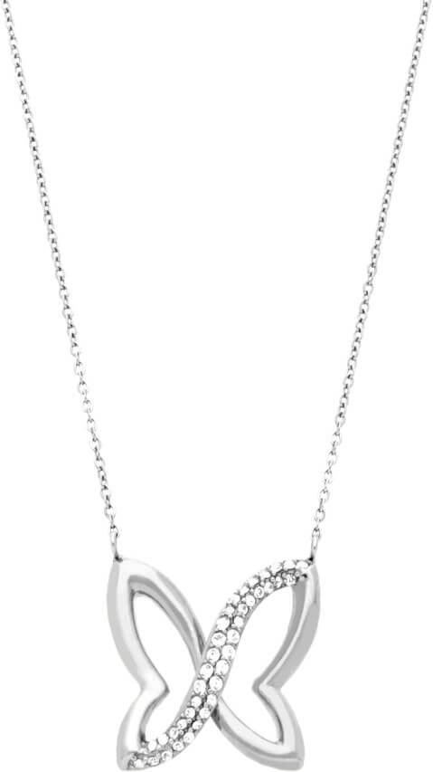 Morellato Ocelový náhrdelník s motýlkem SAHO02 - Šperky Náhrdelníky