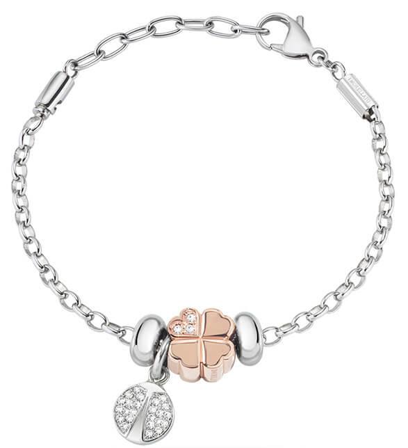 Morellato Ocelový bicolor náramek Drops Jewel SCZ724 - Šperky Náramky