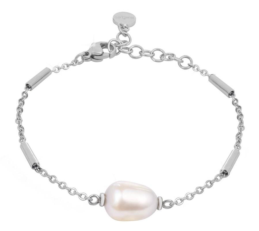 Morellato Ocelový náramek s pravou perlou Oriente SARI14
