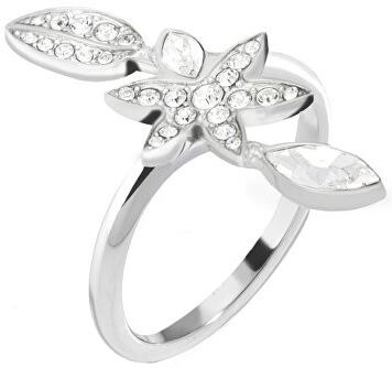 Morellato Ocelový prsten s květinou Natura SAHL17 58 mm