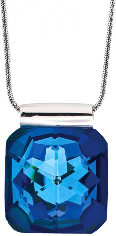 Preciosa Náhrdelník Bella Bermuda Blue 7448 46 - Šperky Náhrdelníky
