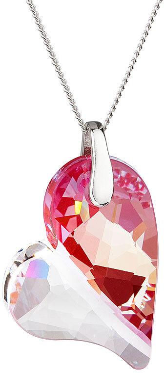 Preciosa Náhrdelník Lover´s Love Apricot Fuchsia 6693 55 - Šperky Náhrdelníky