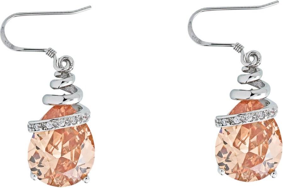 Preciosa Náušnice Elegant Light Topaz 5027 61 - Šperky Náušnice