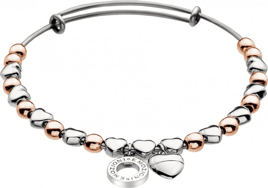 Hot Diamonds Ocelový náramek Emozioni Rose Gold and Silver Plate DC096