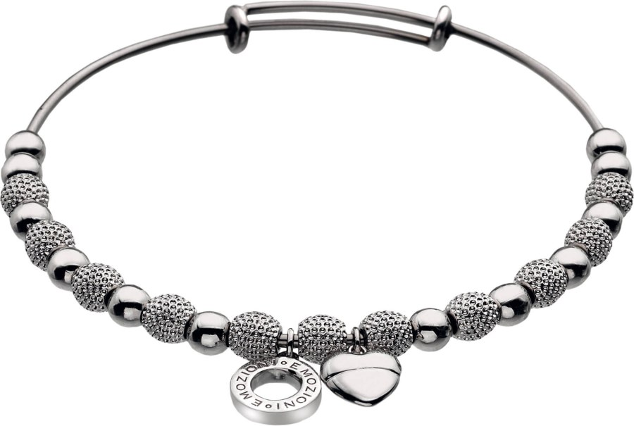 Hot Diamonds Ocelový náramek Emozioni Silver Ula Bangle DC097