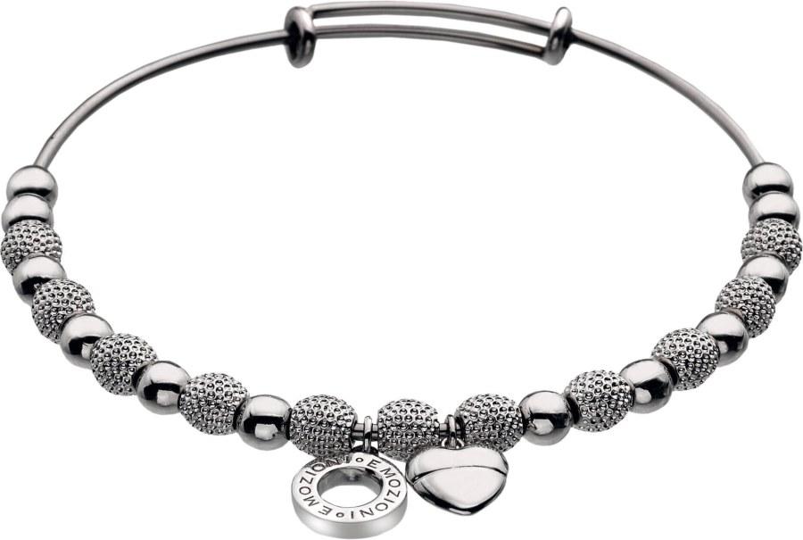 Hot Diamonds Ocelový náramek Emozioni Silver Ula Bangle DC097 - Šperky Náramky