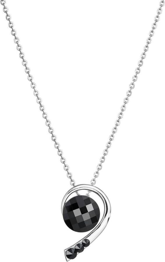 Preciosa Náhrdelník Carissa Black 7196 20 - Šperky Náhrdelníky