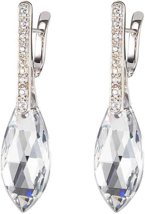 Preciosa Náušnice Peacock Feather Crystal 6837 00 - Šperky Náušnice