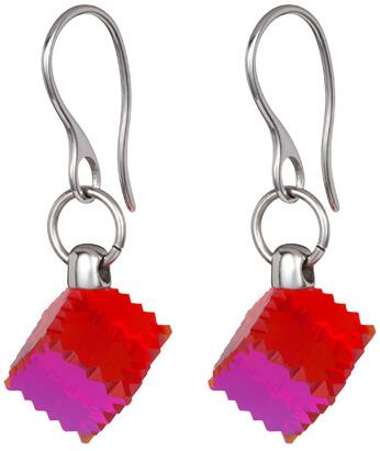 Preciosa Ocelové náušnice s červeným krystalem Jaclyn 7263 57 - Šperky Náušnice