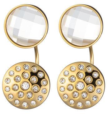 Preciosa Pozlacené náušnice Starry Sky s čirými krystaly 7237Y00 - Šperky Náušnice