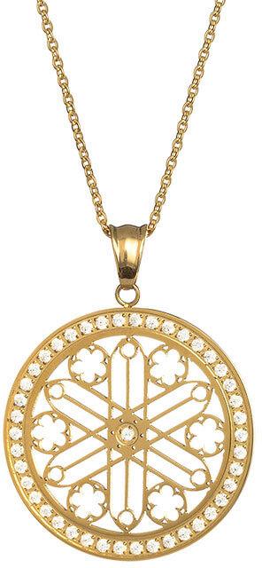 Preciosa Pozlacený náhrdelník s krystaly Rosette 7238Y00 - Šperky Náhrdelníky