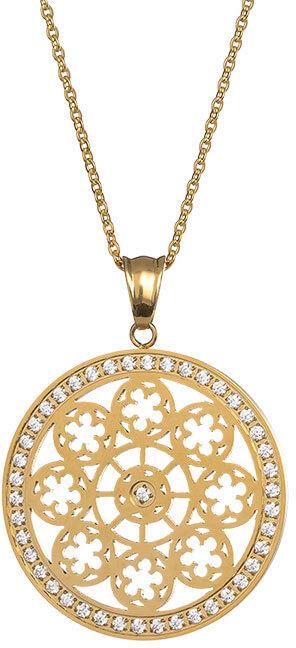 Preciosa Pozlacený náhrdelník s krystaly Rosette 7239P00 - Šperky Náhrdelníky