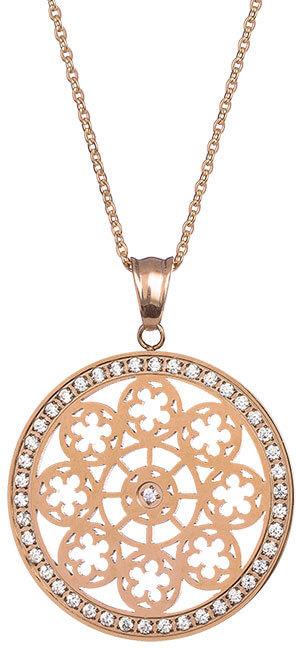 Preciosa Pozlacený náhrdelník s krystaly Rosette 7239Y00 - Šperky Náhrdelníky
