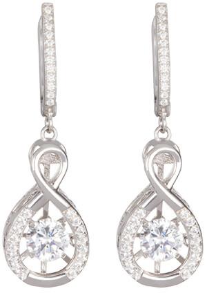 Preciosa Stříbrné náušnice s krystaly Precision 5187 00 - Šperky Náušnice