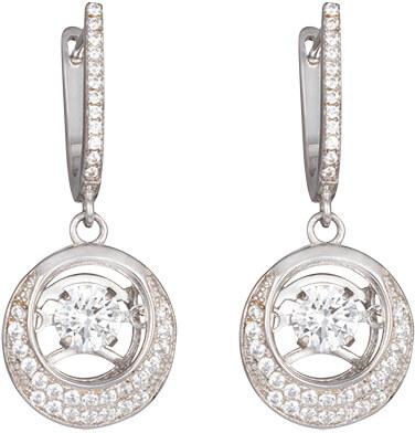 Preciosa Stříbrné náušnice s kameny Shimmer 5185 00 - Šperky Náušnice