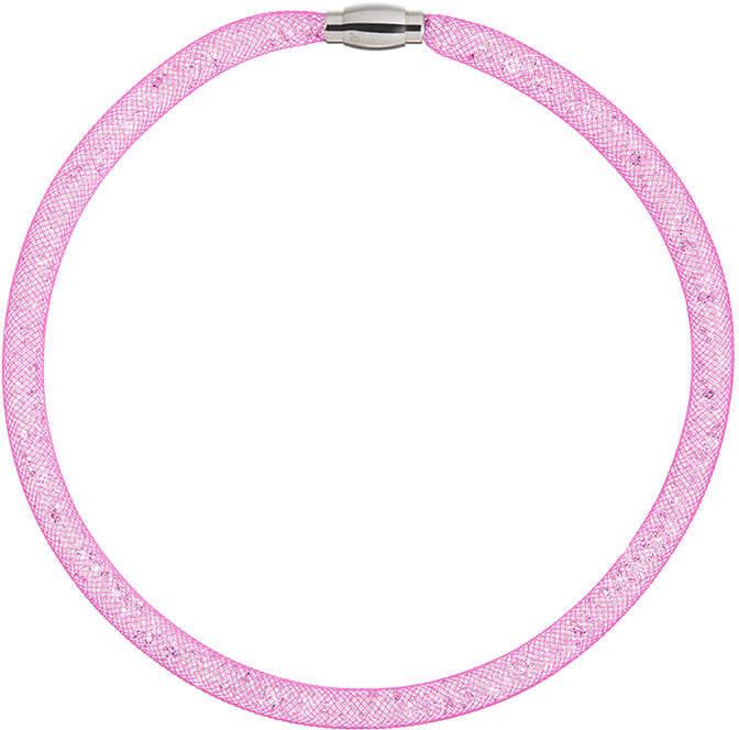 Preciosa Třpytivý náhrdelník Scarlette fuchsiový 7250 55 - Šperky Náhrdelníky