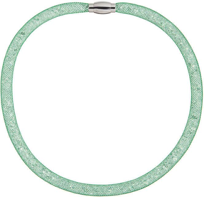 Preciosa Třpytivý náhrdelník Scarlette zelený 7250 66