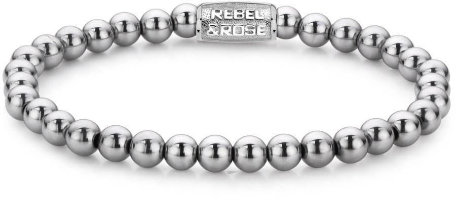Rebel a Rose Korálkový náramek Silver Shine RR-60020-S 15 cm - XS