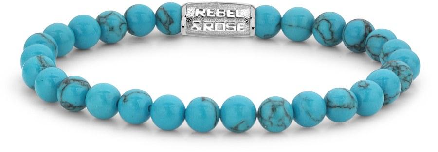 Rebel a Rose Korálkový náramek Turquoise Delight RR-60015-S 17,5 cm - M