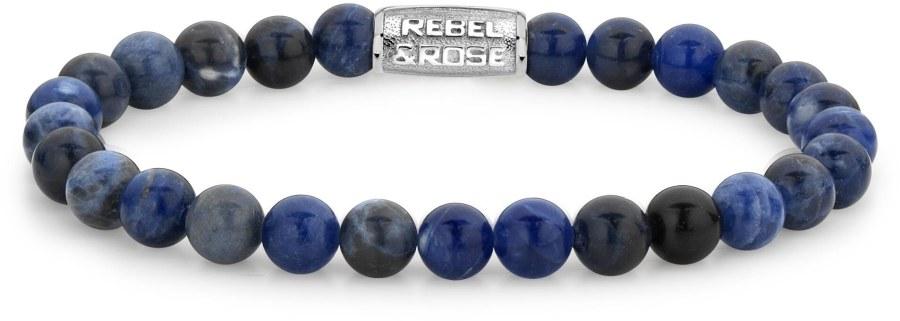 Rebel a Rose Korálkový náramek Midnight Blue RR-60012-S 16,5 cm