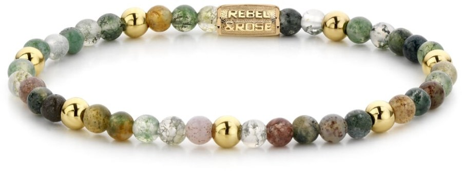 Rebel a Rose Korálkový náramek Indian Summer RR-40046-G 16,5 cm - S
