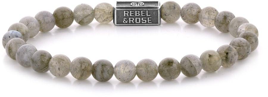 Rebel a Rose Stříbrný korálkový náramek Labradorite Shield RR-6S005-S 15 cm - XS