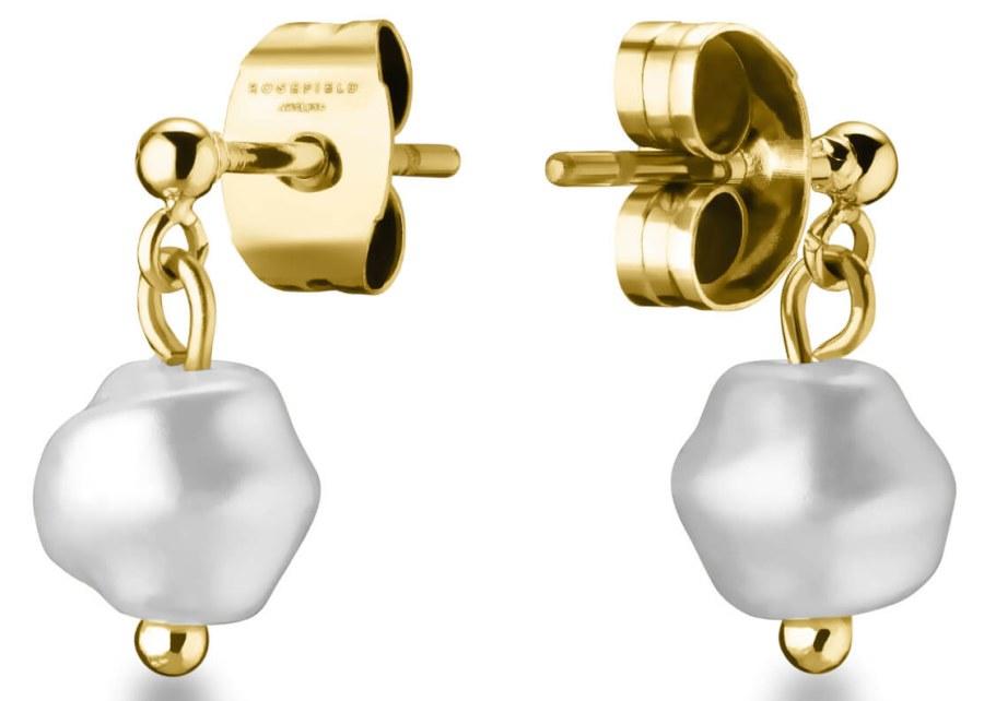 Rosefield Jemné visací náušnice s perlou TOCCOMBO JTSPG-J427