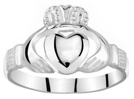 Silvego Dámský celostříbrný prsten Claddagh ZTR96391 52 mm