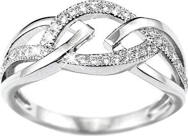Silvego Prsten Elisa ze stříbra JJJR0222 55 mm - Šperky Prsteny