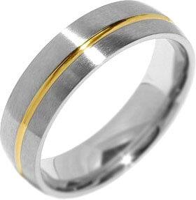 Silvego Snubní ocelový prsten pro muže PARIS RRC2048-M 68 mm - Prsteny snubní
