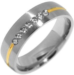 Silvego Snubní ocelový prsten pro ženy PARIS RRC2048-Z 48 mm - Prsteny snubní