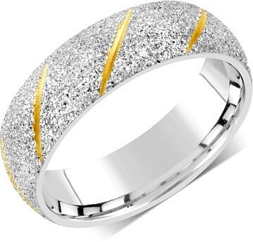 Silvego Snubní prsten pro muže i ženy z oceli RRC22799 67 mm - Prsteny snubní