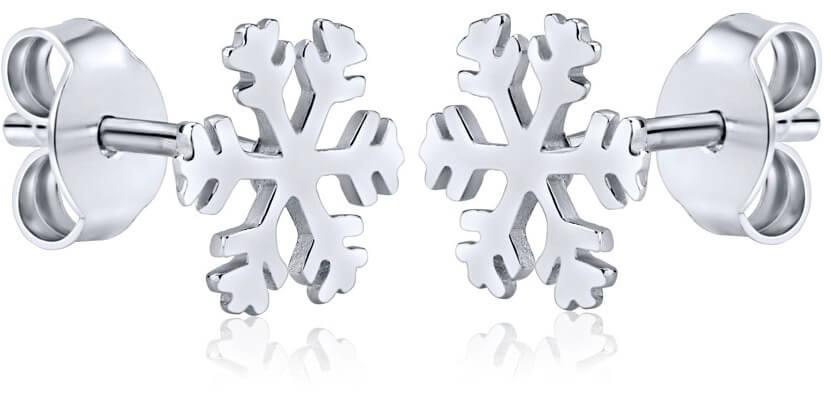 Silvego Stříbrné náušnice Sněhové vločky ZTJE52502 - Šperky Náušnice