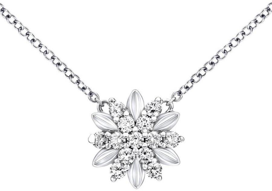 Silvego Stříbrný náhrdelník ALIVIA s krystaly Swarovski MWN10855A