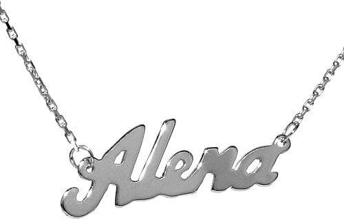 Silvego Stříbrný náhrdelník se jménem Alena - Šperky Náhrdelníky