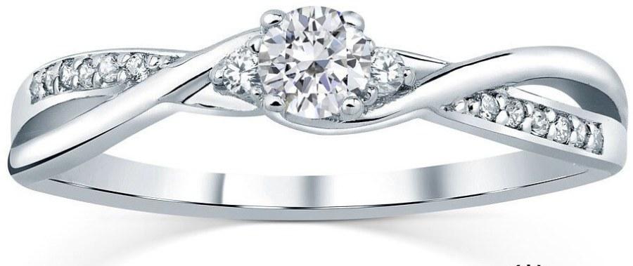 Silvego Stříbrný prsten s krystaly Swarovski FNJR085sw 55 mm