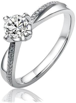 Silvego Stříbrný zásnubní prsten SHZR302 61 mm - Prsteny zásnubní