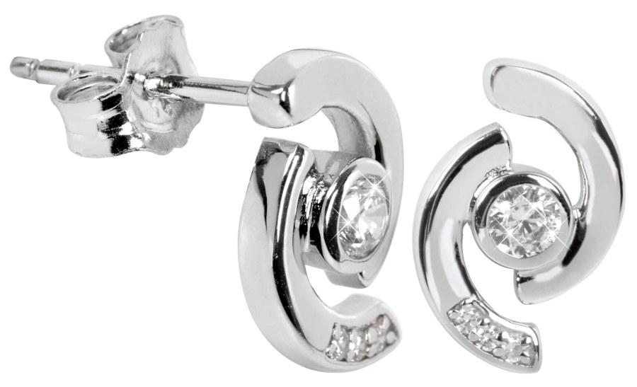 Silver Cat Stříbrné náušnice s krystalem SC114 - Šperky Náušnice