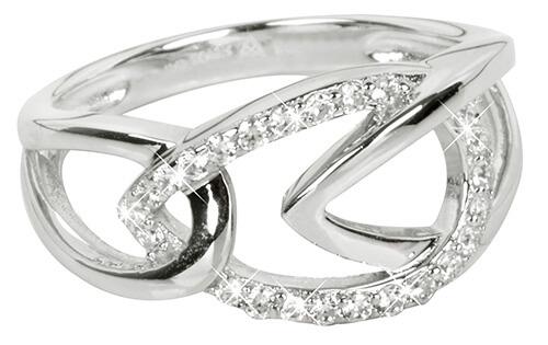 Silver Cat Stříbrný prsten se zirkony SC192 54 mm - Šperky Prsteny
