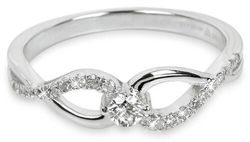 Silver Cat Stříbrný prsten se zirkony SC195 56 mm - Šperky Prsteny