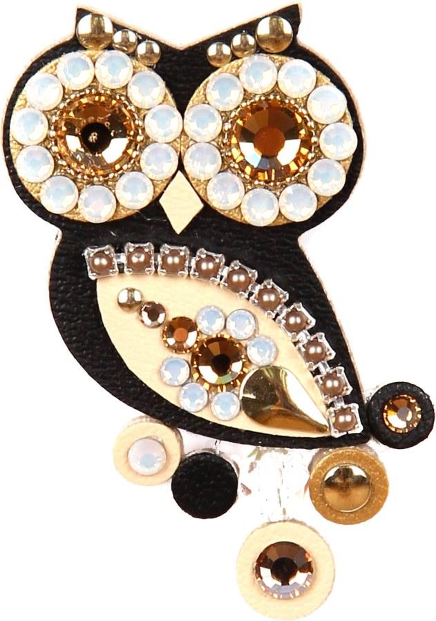 Sovičky Malá soví brož černo-zlatá - Šperky Brože