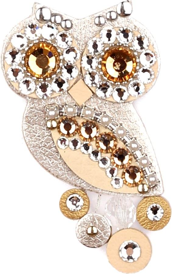 Sovičky Malá soví brož metalická - Šperky Brože