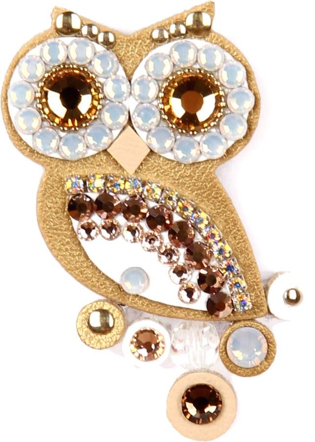 Sovičky Malá soví brož zlatá - Šperky Brože
