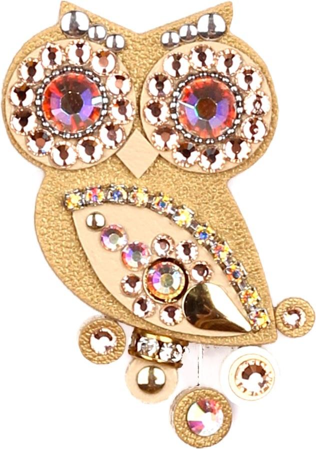 Sovičky Malá zlatá soví brož - Šperky Brože