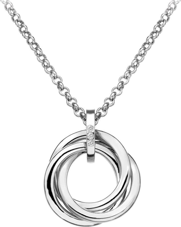 Hot Diamonds Stříbrný náhrdelník Trio DP543 - Šperky Náhrdelníky
