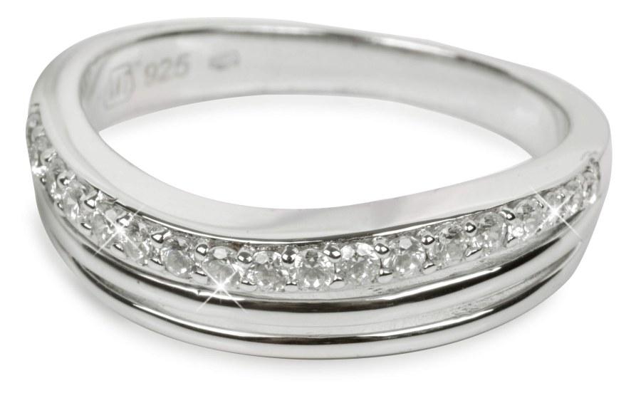 Silver Cat Stříbrný prsten s krystaly SC037 52 mm
