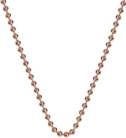 Hot Diamonds Stříbrný řetízek Emozioni Rose Gold Bead Chain 18 CH007 - Šperky Řetízky